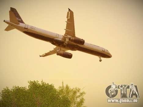 Airbus A321-232 jetBlue Batty Blue für GTA San Andreas Innen
