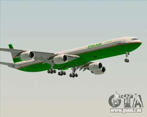 Airbus A340-600 EVA Air pour GTA San Andreas vue de côté