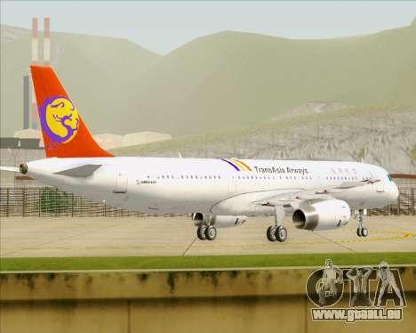 Airbus A321-200 TransAsia Airways für GTA San Andreas rechten Ansicht