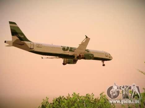 Airbus A321-232 jetBlue NYJets für GTA San Andreas Innen