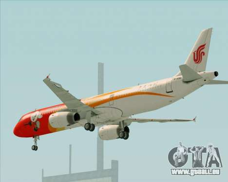 Airbus A321-200 Air China (Beautiful Sichuan) pour GTA San Andreas vue de dessus