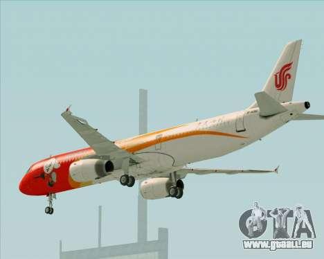Airbus A321-200 Air China (Beautiful Sichuan) für GTA San Andreas obere Ansicht