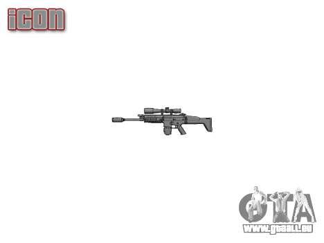 Fusil Mk 17 SCAR-H pour GTA 4 troisième écran