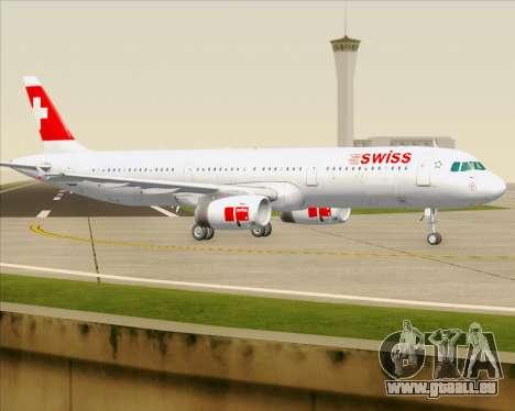 Airbus A321-200 Swiss International Air Lines für GTA San Andreas obere Ansicht