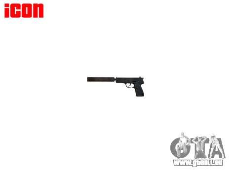 Pistolet QSZ-92 silencieux pour GTA 4 troisième écran