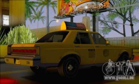 Willard Marbelle Taxi Saints Row Style pour GTA San Andreas laissé vue