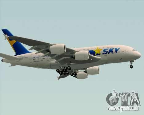 Airbus A380-800 Skymark Airlines pour GTA San Andreas vue de droite