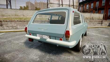 GAZ-24-12 Volga Wh2 pour GTA 4 Vue arrière de la gauche