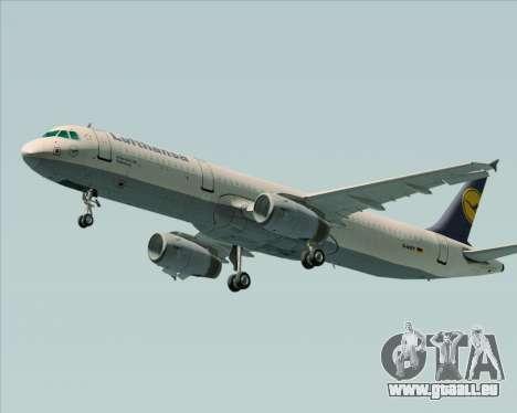Airbus A321-200 Lufthansa für GTA San Andreas rechten Ansicht