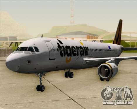 Airbus A320-200 Tigerair Australia für GTA San Andreas Rückansicht