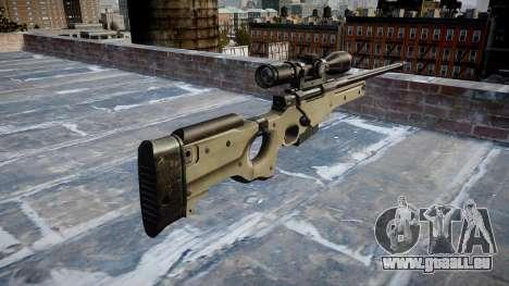 Fusil de Sniper L96A1 Magnum pour GTA 4 secondes d'écran