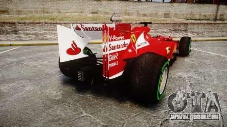 Ferrari F138 v2.0 [RIV] Alonso TIW für GTA 4 hinten links Ansicht