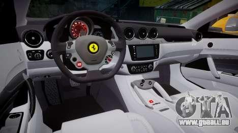 Ferrari FF 2012 Pininfarina Yellow pour GTA 4 est une vue de l'intérieur
