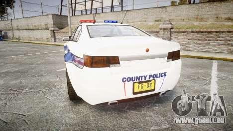 GTA V Cheval Fugitive LS Liberty Police [ELS] pour GTA 4 Vue arrière de la gauche