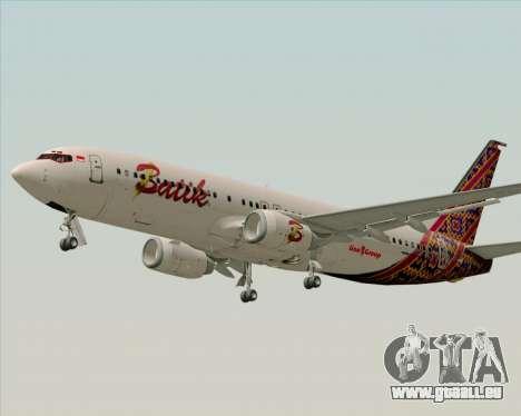 Boeing 737-800 Batik Air pour GTA San Andreas vue intérieure