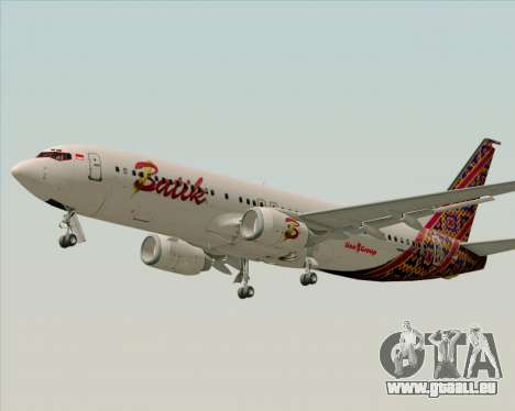 Boeing 737-800 Batik Air für GTA San Andreas Innenansicht