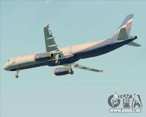 Airbus A321-200 Aeroflot - Russian Airlines für GTA San Andreas obere Ansicht