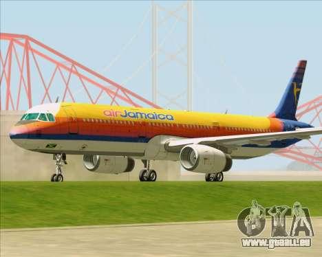 Airbus A321-200 Air Jamaica für GTA San Andreas linke Ansicht