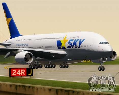 Airbus A380-800 Skymark Airlines pour GTA San Andreas vue de dessus