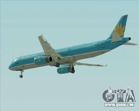 Airbus A321-200 Vietnam Airlines pour GTA San Andreas vue de dessous