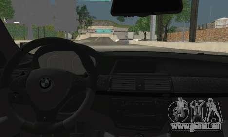 BMW X6M 2013 für GTA San Andreas zurück linke Ansicht