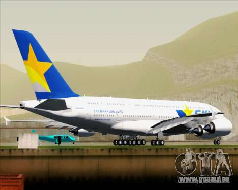 Airbus A380-800 Skymark Airlines pour GTA San Andreas vue arrière