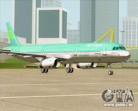 Airbus A321-200 Aer Lingus für GTA San Andreas Unteransicht