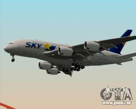 Airbus A380-800 Skymark Airlines pour GTA San Andreas vue de côté