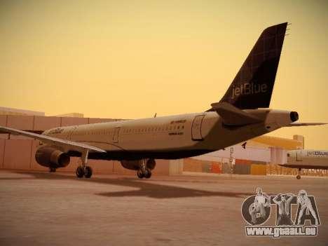 Airbus A321-232 jetBlue Batty Blue für GTA San Andreas rechten Ansicht