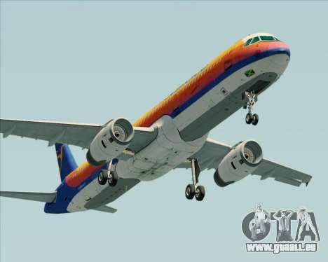 Airbus A321-200 Air Jamaica für GTA San Andreas zurück linke Ansicht