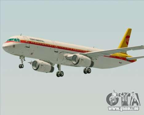 Airbus A321-200 Continental Airlines für GTA San Andreas linke Ansicht