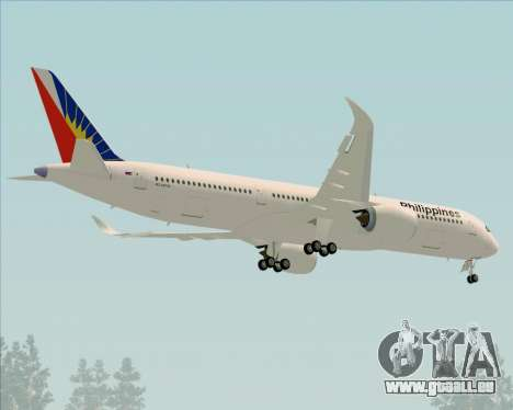 Airbus A350-900 Philippine Airlines für GTA San Andreas obere Ansicht