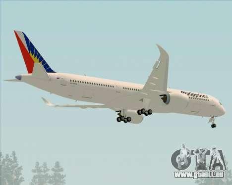 Airbus A350-900 Philippine Airlines pour GTA San Andreas vue de dessus