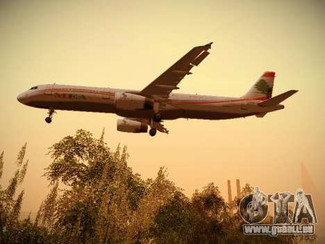 Airbus A321-232 Middle East Airlines für GTA San Andreas Innen