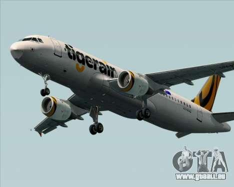 Airbus A320-200 Tigerair Australia für GTA San Andreas zurück linke Ansicht