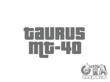 Pistolet Taurus MT-40 buttstock2 icon1 pour GTA 4 troisième écran