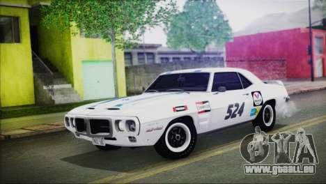 Pontiac Firebird Trans Am Coupe (2337) 1969 pour GTA San Andreas salon