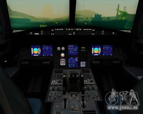 Airbus A321-200 Continental Airlines pour GTA San Andreas salon