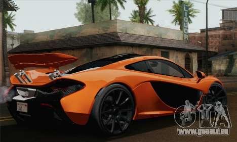 McLaren P1 Black Revel pour GTA San Andreas laissé vue