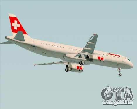 Airbus A321-200 Swiss International Air Lines für GTA San Andreas rechten Ansicht