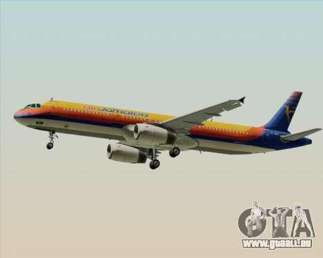 Airbus A321-200 Air Jamaica pour GTA San Andreas vue de droite