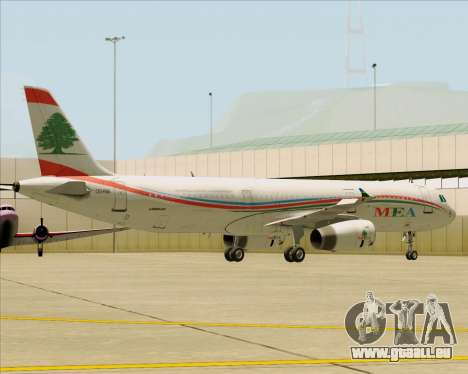 Airbus A321-200 Middle East Airlines (MEA) für GTA San Andreas