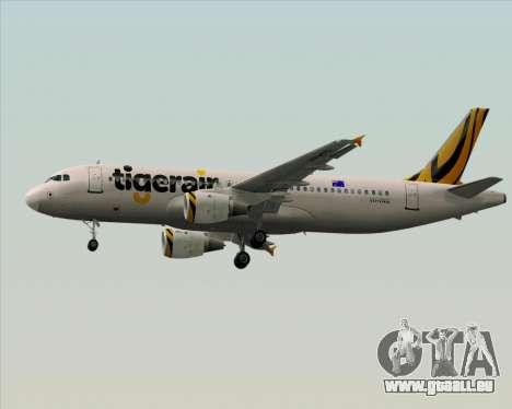 Airbus A320-200 Tigerair Australia für GTA San Andreas Unteransicht