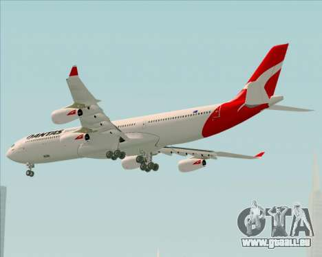 Airbus A340-300 Qantas pour GTA San Andreas vue arrière