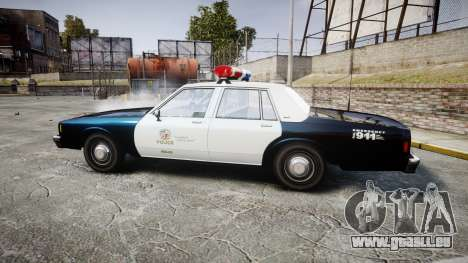 Chevrolet Impala 1985 LAPD [ELS] für GTA 4 linke Ansicht