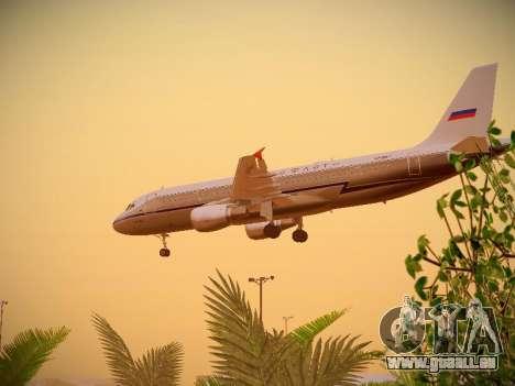 Airbus A320-214 Aeroflot Retrojet pour GTA San Andreas vue de côté