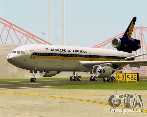 McDonnell Douglas DC-10-30 Singapore Airlines pour GTA San Andreas laissé vue