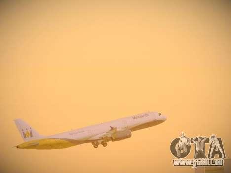 Airbus A321-232 Monarch Airlines für GTA San Andreas Motor