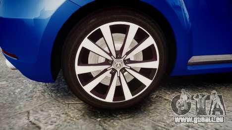 Volkswagen Beetle A5 Fusca pour GTA 4 Vue arrière