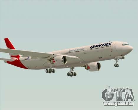 Airbus A330-300 Qantas (New Colors) pour GTA San Andreas sur la vue arrière gauche